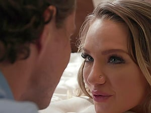 Cali Carter knows how to satisfy two horny guys at the same time