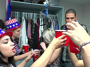 College party turns into an orgy with Nicole Bexley and her friends