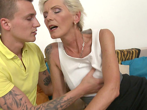 Granny Irenka S. loves getting pounded by younger stud