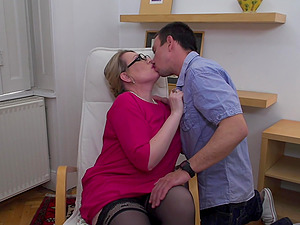 Intense one on one action with mature lady Irina and one lucky dude