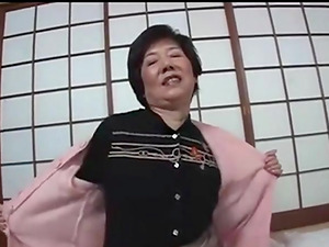 Japanese Gilf playing with a stranger's cock