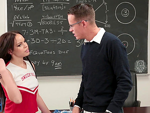 Naughty teacher gets to bang schoolgirl Tory Bellamy in the classroom
