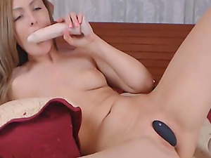 My blonde babe neighbor on adult cam playing with her toys.