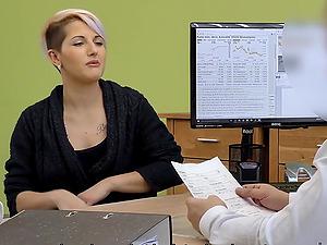 Mrs Sweet fucked hard in loan office