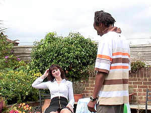 Lucky guy talked naughty Toni Lace into fucking with him outdoors