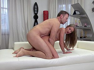 Tiffany Tatum makes a naughty guy happy by bouncing on his dick