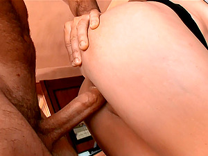 Brunette model Sophie takes her boyfriends cock in every position