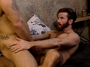 Missionary style gay fuck with a horny couple on a vacation