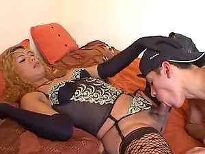 Horny shemale Princess plays dirty games with some dude