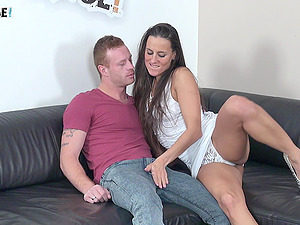 Brunette Mea Melone demonstrates her impeccable skills