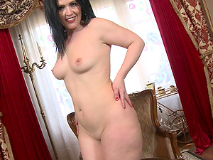 Montse Swinger is so horny that she takes the biggest dildo she has