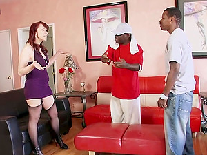 2 Black Guys Ass Fuck Sexy Nikki Hunter