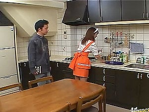 Maid Takes A Break To Suck Her Chief And Eat His Jism