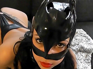 Hot German babe in latex suit gets fucked