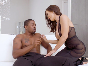 Busty MILF gets her anal canal destroyed by a big black cock