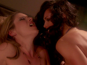 Candlelit lesbian action with Samantha Ryan and Melissa Jacobs