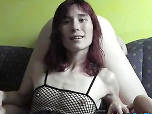 Skinny German Girl Knows How To Drain Cock