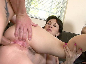 MILF RayVeness blows her man's dick and gets fucked hard