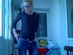 Cute Swedish Teen Dances And Strips