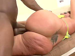 Big ass of Vannah Sterling fucked hard and cum sprayed by a black cock
