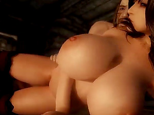 Big boobs babe sucks big dick before her pussy gets drilled nicely and deeply