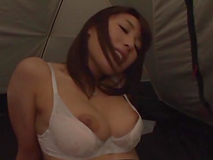 Outdoor camping sex in a tent with a Japanese babe Ayami Shunka