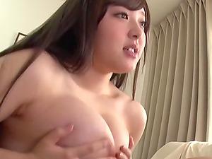 Tsubakiori Satomi rides and sucks a cock while her big tits bounce