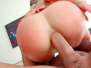 Cherie Deville rides a big hard cock with her tight asshole