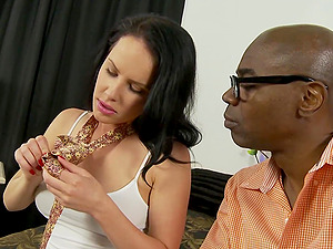 Brunette MILF whore Katie St. Ives impaled by a huge black dick