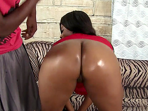 Chubby Ebony Mirage Oiled up and Screwed