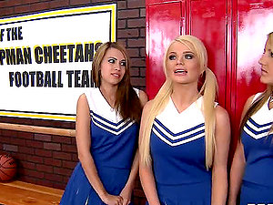 Dirty Cheerleaders With Big Tits Getting Fucked.