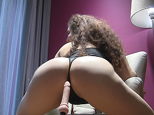 Chubby amateur brunette Lili stuffs her pussy with toys in the shower