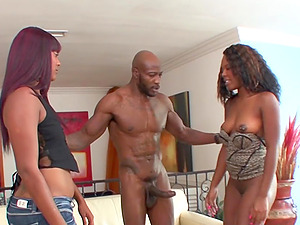 Two Black Babes Share One Monster BBC