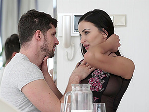 Exotic long haired MILF Alyssia Kent rides and sucks dick