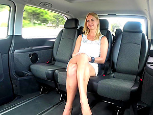 Interracial reality car fuck with Violette Pure and a black guy
