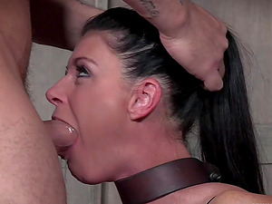 Hardcore abuse and humiliation for strapped in MILF India Summer