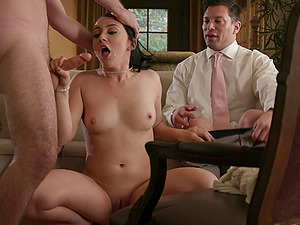 Petite PAWG Mandy Muse double fucked in all holes hardcore