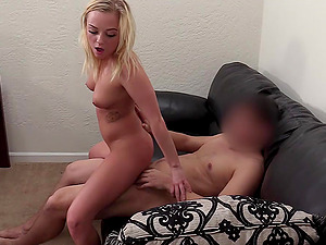Blonde blue eyed amateur Stacey pounded hard on the casting couch