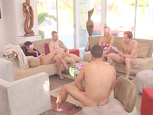 Wild group sex fuck with Samora Morgan and Addison Oriley pounded hard