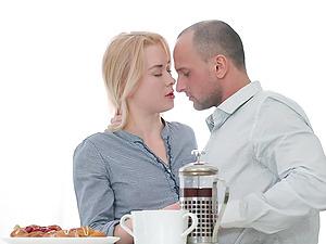Kitchen missionary anal fuck with blonde slut Via Lasciva