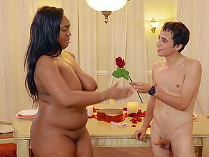 Chubby ebony whore Layton Benton bent over and pounded hardcore