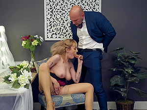 Busty blonde in lingerie Maxim Law pounded by a big cock hardcore
