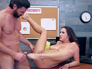 Rough face fuck and choking doggy fuck for naughty Ashley Adams