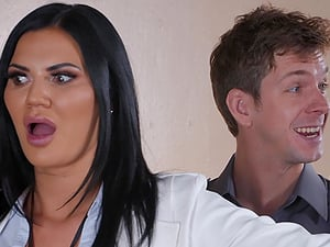 Curvy babe Jasmine Jae gets a hardcore ass fuck and creampie in jail