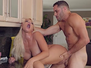Soccer mom London River ass fucked hardcore on the couch