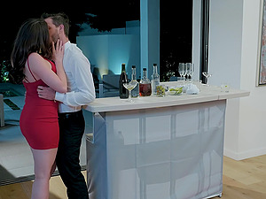 Chanel Preston and Julia Ann pounded in an interracial threesome