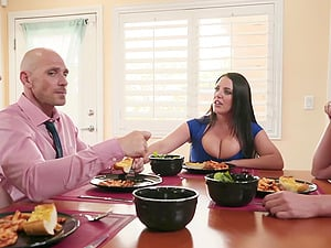 Hardcore group fuck with Angela White and her friends sharing cum