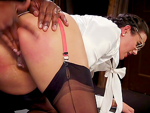 Kendra Spade and Penny Barber share a black dick hardcore