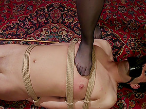 Femdom hardcore session with mistress Chanel Preston in latex