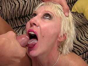 GILF Dalny Marga Gorges Herself on Cock